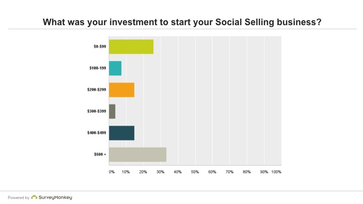 What was your investments to start your Social Selling business?