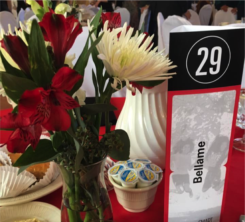 Bellame table at Strong, Smart, and Bold Luncheon