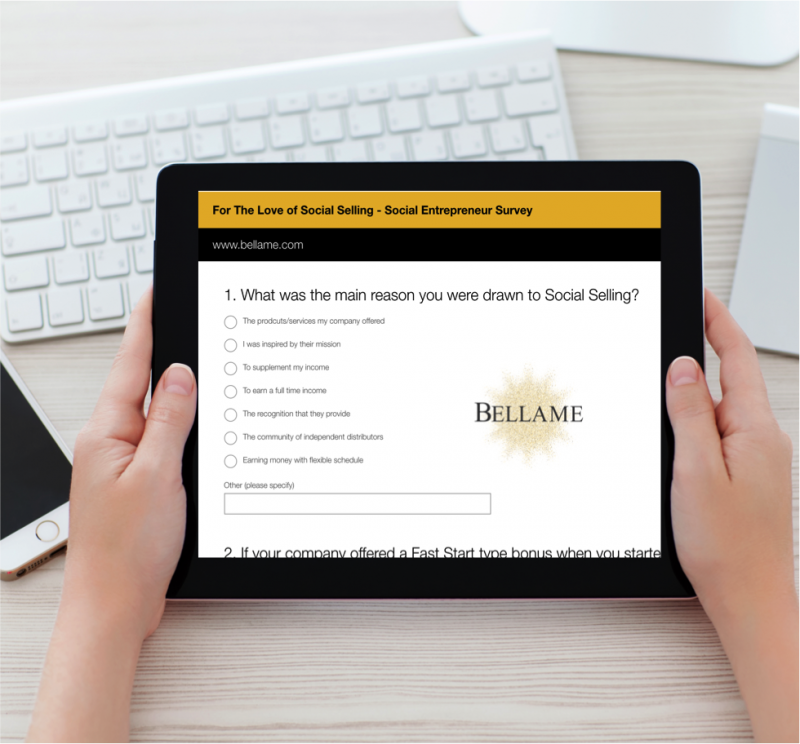 Social Entrepreneur Survey | Bellame Beauty Inc