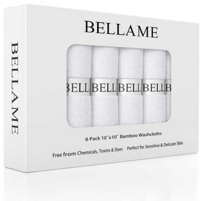 Bellame Bamboo Washcloths